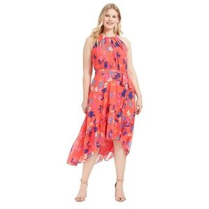 Vince Camuto Womens 16W Pink Floral Dress N17P